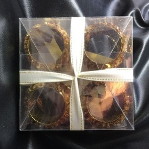 Target Dining - Gold Sequin Napkin Rings 2 Sets of 4